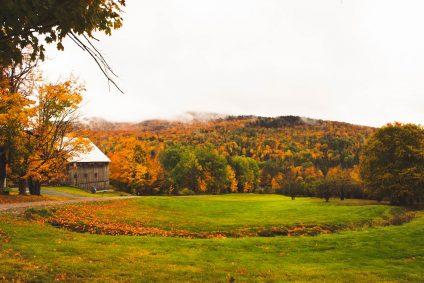 Vermont Farm landscape in fall