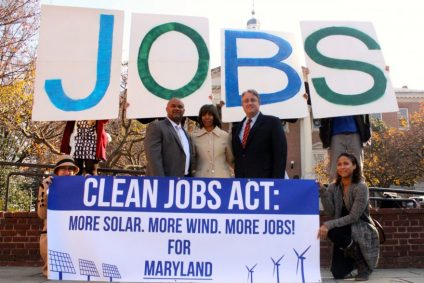 Clean Jobs Act Protest