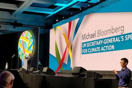 Photo of speaker at Global Climate Action Summit