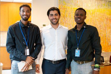 Photo: Jamal Aden, Lorenz Nehma, Sekou Swaray, youth voices of the Somali, Yazidi, Liberian diasporas