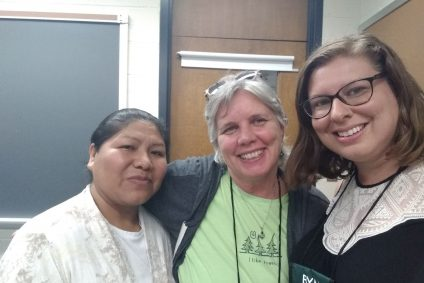 Emma Condori from Bolivia, Barb Adams from Richmond VA and Hayley Hathaway IMYM