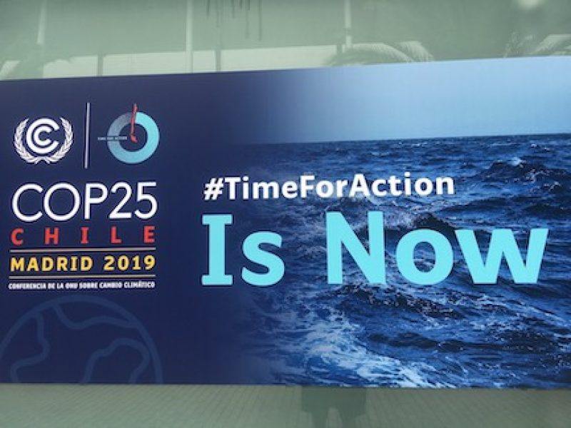 Photo of COP25 Sign