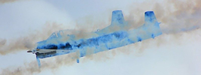 Abstract photo of military plane