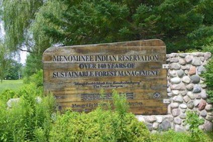 Sign of Menominee Nation