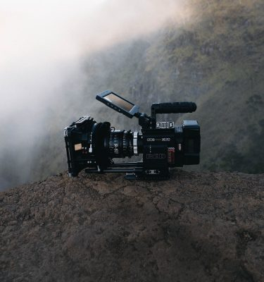 Camera on top of a mountain